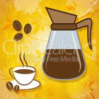 Brewed Coffee Shows Roasted Caffeine And Freshness