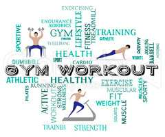 Gym Workout Shows Fitness Center And Athletic