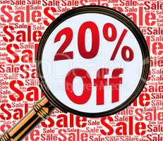 Twenty Percent Off Means Discount Closeout And Offers