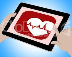 Heartbeat Online Means Pulse Trace And Cardiac