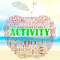 Activity Apple Means Get Fit And Energetic