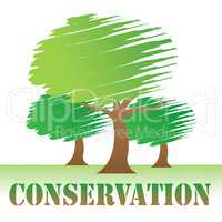 Conservation Trees Indicates Go Green And Eco