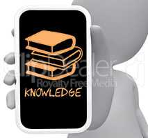 Knowledge Online Represents Mobile Phone And Comprehension 3d Re