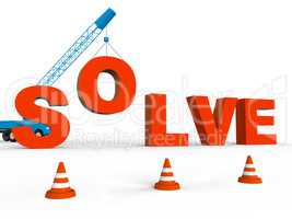 Make Solution Represents Solutions Achievement And Builds 3d Ren