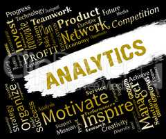 Analytics Words Means Reporting Collecting And Measuring