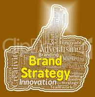 Brand Strategy Thumb Shows Company Identity And Agreement