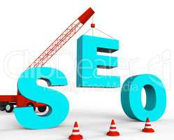 Build Seo Shows Search Engines And Builds 3d Rendering