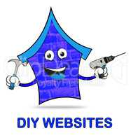 Diy Websites Represents Www Home And Habitation