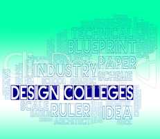 Design Colleges Indicates Visualization Graphic And Concept