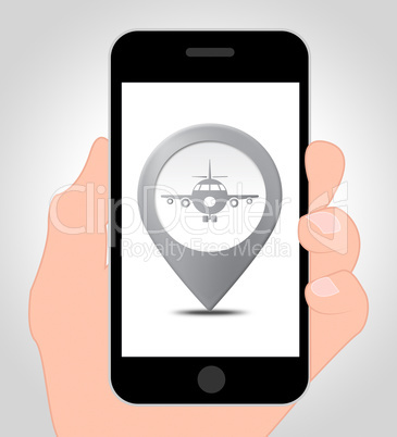 Airport Location Online Means Mobile Phone And Airfield