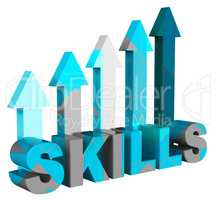 Skills Arrows Means Expertise Pointing And Abilities 3d Renderin
