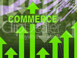Commerce Graph Represents Ecommerce Trade And Forecast
