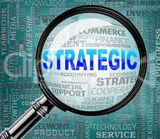 Strategic Magnifier Means Business Strategy And Magnification