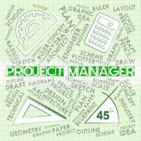 Project Manager Indicates Job Scheme And Hiring