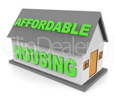 Affordable Housing Indicates Cut Price And Apartment 3d Renderin