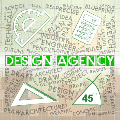 Design Agency Represents Designing Business And Agent