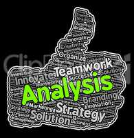 Analysis Thumbs Up Means Data Analytics And Analyse