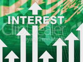 Interest Graph Means Percentage Sign And Diagram