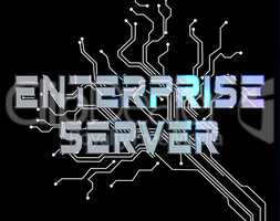 Enterprise Server Means Online Network And Businesses