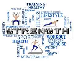 Fitness Strength Represents Working Out And Aerobic