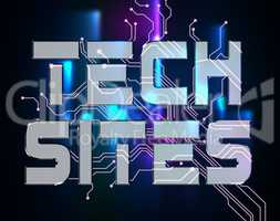 Tech Sites Represents Www Online And Technology