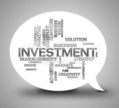 Investment Bubble Means Communication Investing And Savings