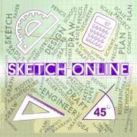Sketch Online Means Web Site And Creative