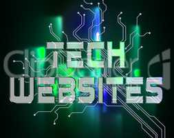 Tech Websites Represents Digital Technologies And Online