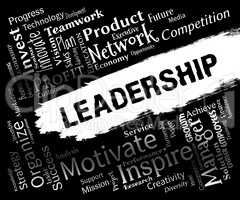 Leadership Words Indicates Authority Guidance And Manage