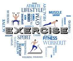 Exercise Fitness Means Physical Activity And Athletic