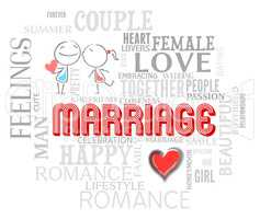 Marriage Words Shows Find Love And Adoration