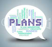 Plans Bubble Means Planning Communication And Missions