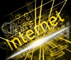 Internet Word Shows World Wide Web And Www Site