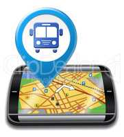 Bus Gps Means Public Transport And Buses