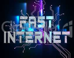 Fast Internet Means High Speed And Accelerated