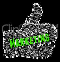 Marketing Thumbs Up Shows Commerce E-Commerce And Advertising