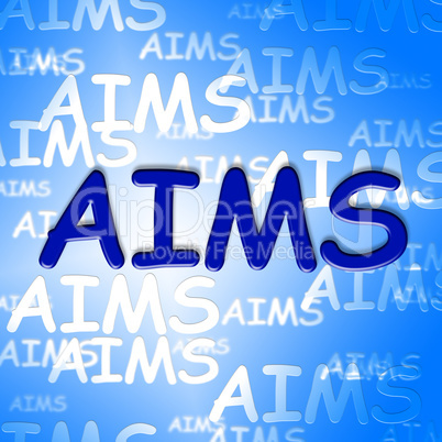 Aims Words Indicates Direction Ambitious And Goal