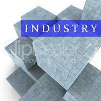 Industry Blocks Indicates Factory Industrial And Industries 3d R
