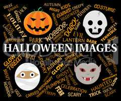 Halloween Images Shows Trick Or Treat And Autumn