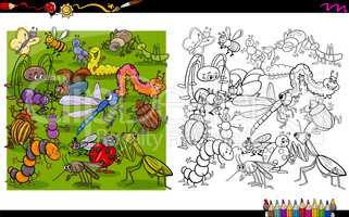 insect characters coloring book