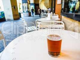 HDR British ale beer pint