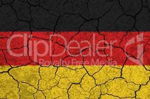 Deutschland Flagge auf einer Steinmauer