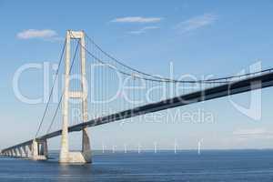 Brücke von Fünen nach Seeland, Dänemark