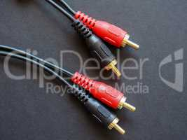 Audio cable with phono (RCA) connector