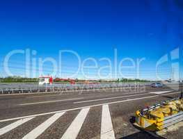 Italian motorway in Milan HDR