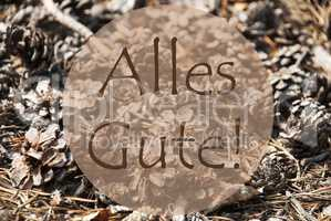 Autumn Greeting Card, Alles Gute Means Best Wishes