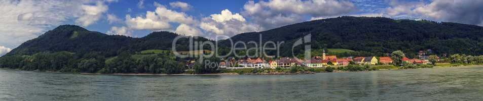 Village of Willendorf on the river Danube in the Wachau region, Austria