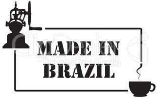 Stamp imprint for coffee industry, Made in Brazil