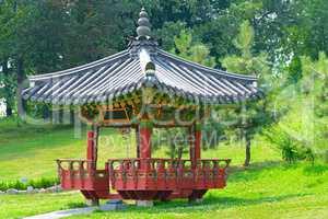 pagoda for meditation in a city park