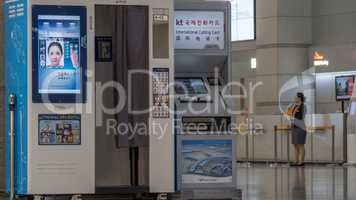 Photo booth and International Calling Card automat